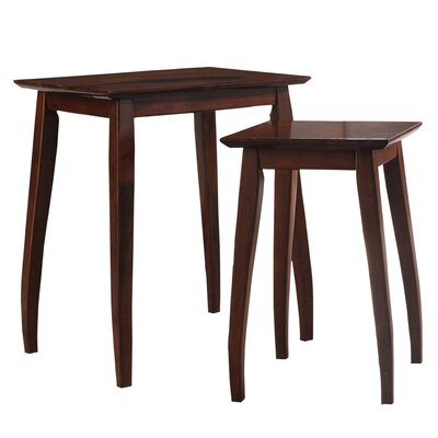 !nspire 2 Piece Solid Wood Nesting Table Set