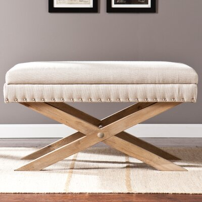 Lark Manor Galega Wood Storage Bedroom Bench