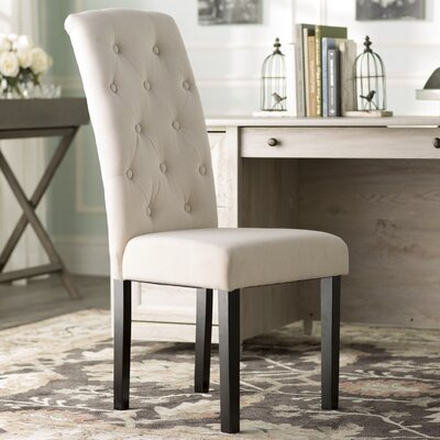 Lark Manor Brittany Tufted Parsons Chair (Set of 2)