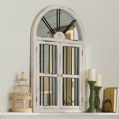 Lark Manor Lular Faux Window Wall Mirror