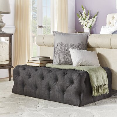 Lark Manor Bourges Rectangular Tufted Cocktail Ottoman
