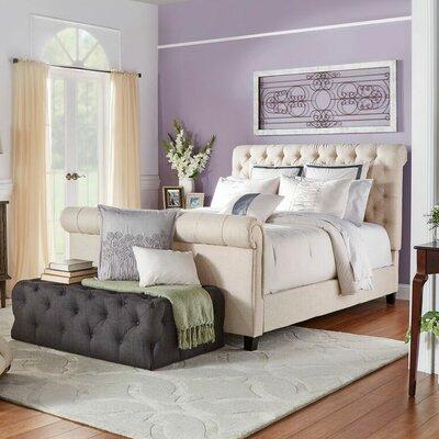 Lark Manor Melyna Upholstered Sleigh Bed