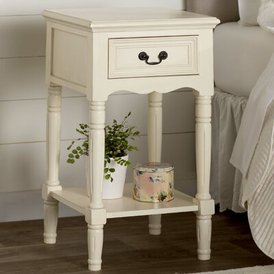 Lark Manor Yvelines 1 Drawer Nightstand