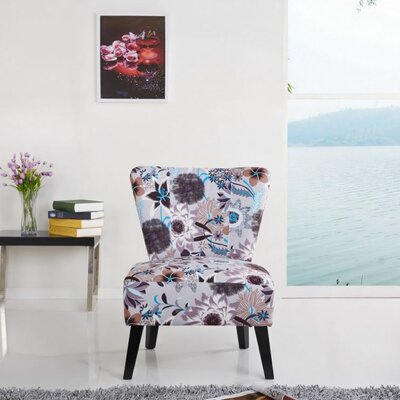 Container Cora Patterned Fabric Side Chair