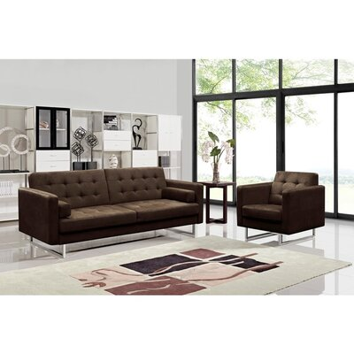 Container Dona Fabric Modern Sofa and Chair Set