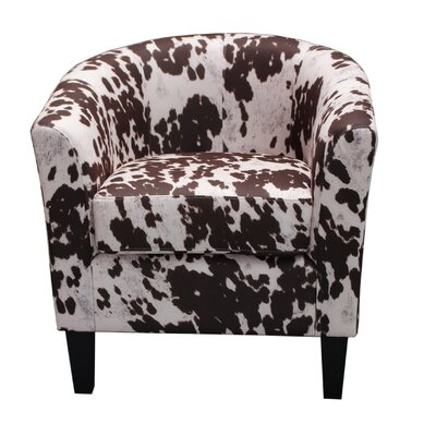 Container Cow Spot Print Armchair