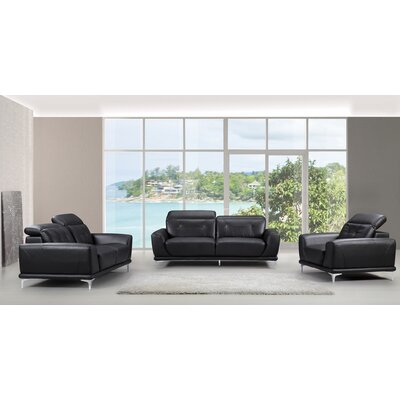 Container 3 Piece Sofa, Loveseat and Chair Set