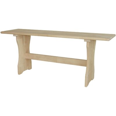 International Concepts Trestle Wood Kitchen Bench