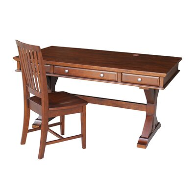 Alcott Hill Greenport Executive Desk with Chair