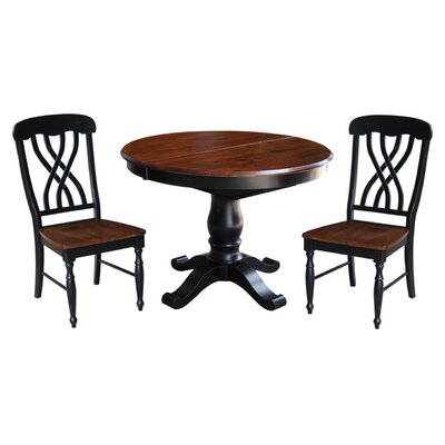 August Grove Lewis 3 Piece Dining Set