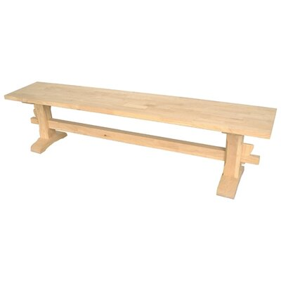 International Concepts Unfinished Wood Trestle Entryway Bench