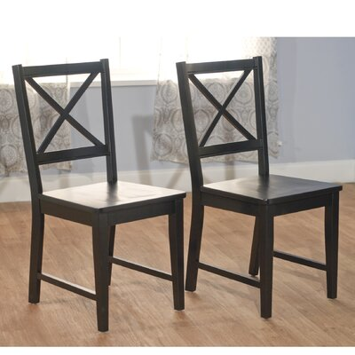 August Grove Sally Cross Back Side Chair (Set of 2)