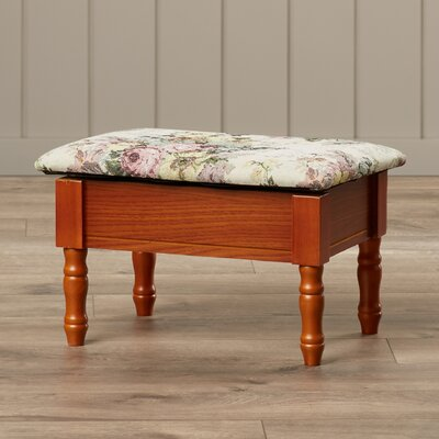 August Grove Cleo Queen Anne Style Storage Ottoman