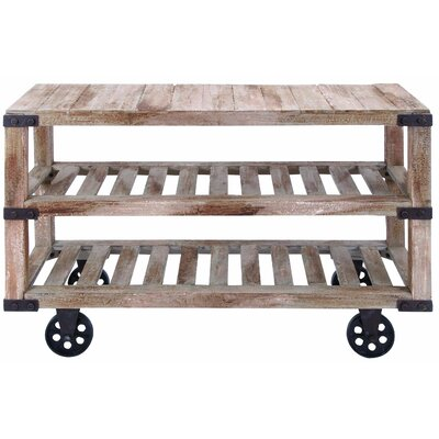 August Grove Roma Rustic Console Cart