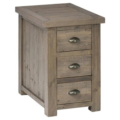August Grove 3 Drawer Chairside Table