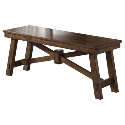 August Grove Marni Wood Kitchen Bench