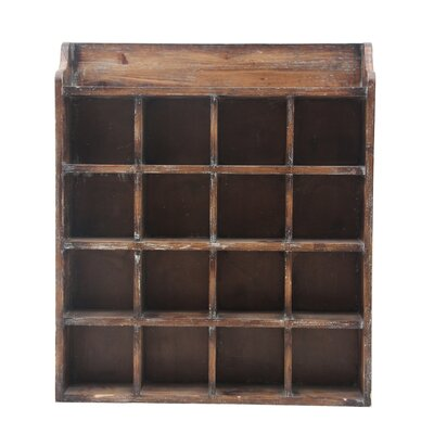 August Grove 16 Bottle Wall Mounted Wine Rack