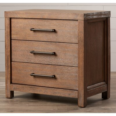 August Grove Lyons 3 Drawer Nightstand