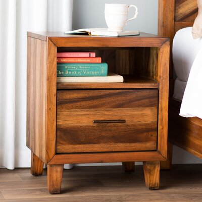 August Grove Kevin 1 Drawer Nightstand
