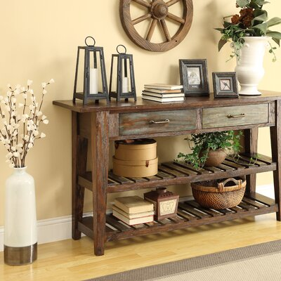 August Grove Betsy Console Table in Brown