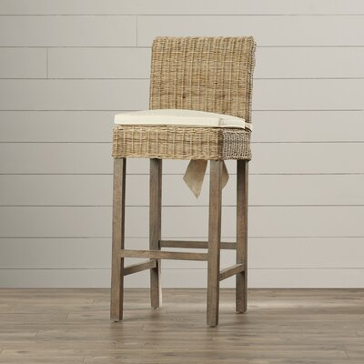 One Allium Way Justine Bar Stool with Cushion
