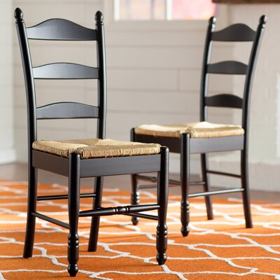 One Allium Way Leonora Ladder Back Side Chair (Set of 2)