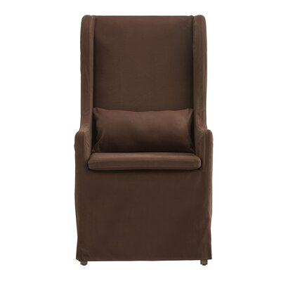 One Allium Way Lefebre Linen Wingback Chair