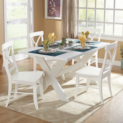 Beachcrest Home Hutchinson 5 Piece Dining Set