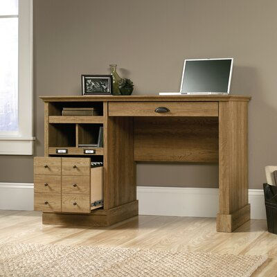 Beachcrest Home Bowerbank Computer Desk with 2 Storage Drawers