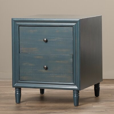 Beachcrest Home Plainville 2 Drawer Nightstand