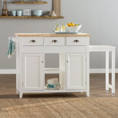 Beachcrest Home Ivanhoe Kitchen Cart