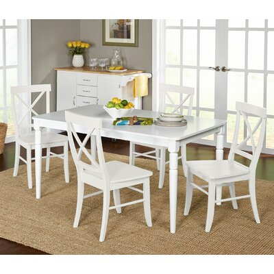 Beachcrest Home Brookwood 5 Piece Dining Set
