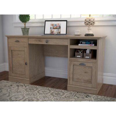 Beachcrest Home Bowerbank Executive Desk with File