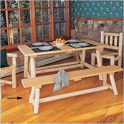 Loon Peak Wynnewood Wood Kitchen Bench