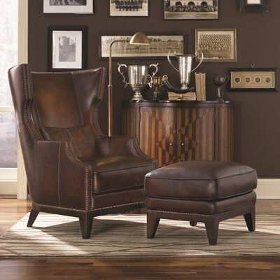 Loon Peak Martin Hill Wingback Chair and Ottoman