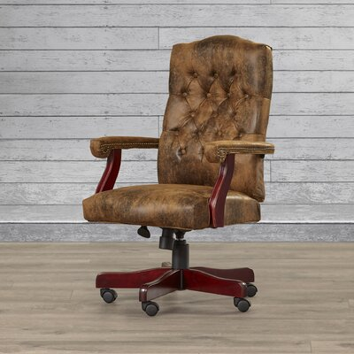 Loon Peak Hebbville High-Back Executive Office Chair with Arms