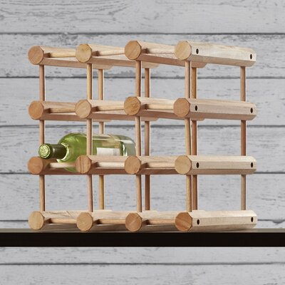 Loon Peak Arvon 12 Bottle Floor Wine Rack