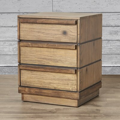 Loon Peak Elliston 3 Drawer Nightstand
