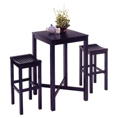 Loon Peak Greenwood 3 Piece Pub Table Set