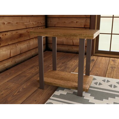 Loon Peak Somers Reclaimed Wood/Metal End Table