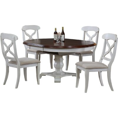 Loon Peak Lockwood Butterfly Leaf 5 Piece Dining Set