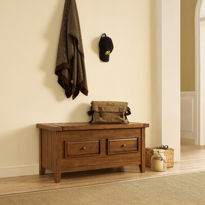 Loon Peak Ordway Wood Storage Bedroom Bench