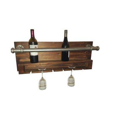 trent austin design industrial 2 bottle wall mounted wine rack u0026 reviews wayfair