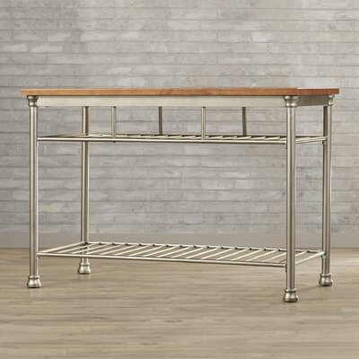 Red Barrel Studio Kibbe Kitchen Island with Butc..