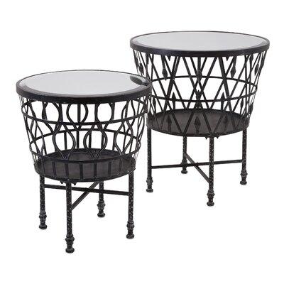 Trent Austin Design Clivden 2 Piece Drum End Tables Set