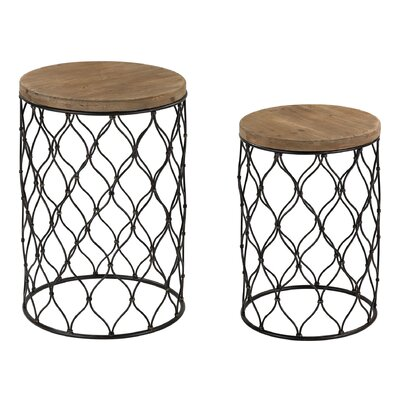 Trent Austin Design Awalt 2 Piece Drum End Table Set (Set of 2)