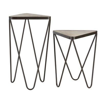 Trent Austin Design Bandera 2 Piece Angular End Table Set