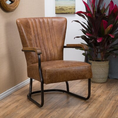 Trent Austin Design Cactus Lane Top Grain Leather Arm Chair
