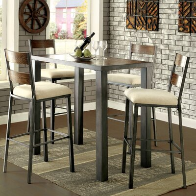 Enitial Lab Alleso 5 Piece Pub Table Set