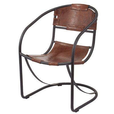Trent Austin Design Arona Round Back Leather Lounge Chair